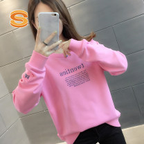 Sweater / sweater Spring 2021 Pink White Green S M L XL Long sleeves routine Socket singleton  routine Crew neck easy commute routine letter 96% and above Suisha Korean version other 00017HT0279074700 Pocket print stitching thread Other 100% Pure e-commerce (online only)