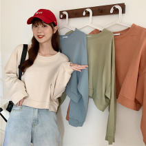 Sweater / sweater Autumn 2020 Green, apricot, light brown, light blue M,L,XL Long sleeves have cash less than that is registered in the accounts Socket singleton  Thin money easy commute routine Solid color 18-24 years old C378