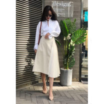 skirt Spring 2021 XS,S,M,L Off white Middle-skirt Type A 25-29 years old