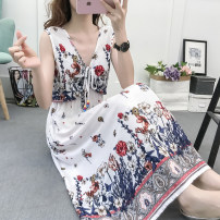 Dress Summer of 2019 1133 decor, 1139 decor, 1122 decor, 1131 decor, 1142 decor, brown pre-sale S,M,L,XL,2XL,3XL,4XL longuette Sleeveless 25-29 years old Other / other 1133# cotton