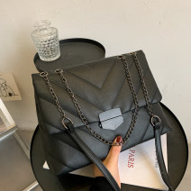 Bag The single shoulder bag PU other Heya brand new Japan and South Korea Small leisure time soft Cover type no Solid color Single root One shoulder cross carry nothing youth other Color contrast Chain handle soft surface