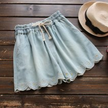 Jeans Winter 2016 Light blue, dark blue Single code shorts Natural waist Embroidery 0628X5898691907 Other / other