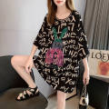 T-shirt S58 # white S58 # black M L XL 2XL Summer 2020 Short sleeve Crew neck easy Medium length routine commute polyester fiber 86% (inclusive) -95% (inclusive) 18-24 years old Korean version originality Cartoon letters Jingyan JY-S58## Printed lace hollow diamond Pure e-commerce (online only)