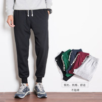 trousers Six hundred and ninety-three Other / other Two hundred and ninety-nine male 2XL 3XL 4XL L M XL Black (summer ultra thin) grey (summer ultra thin) Tibetan blue (summer ultra thin) black (spring and Autumn) grey (spring and Autumn) Tibetan blue (spring and Autumn) Summer of 2018 Frenulum run