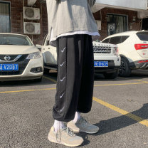 Casual pants Zhe yuan Youth fashion Black grey S M L XL XXL routine trousers Other leisure easy Micro bomb Four seasons teenagers tide 2021 middle-waisted Little feet Sports pants No iron treatment Solid color cotton Spring 2021 Pure e-commerce (online only) 70% (inclusive) - 79% (inclusive)