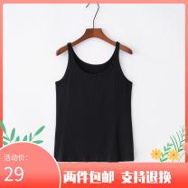 Vest sling Summer 2017 black M,L,XL,2XL,3XL singleton  routine Straight cylinder street 81% (inclusive) - 90% (inclusive) modal