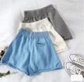 Casual pants Gray, white, blue, black Average size Summer 2020 shorts Wide leg pants Natural waist commute routine Korean version