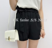 Casual pants S,M,L Spring 2021 shorts Wide leg pants High waist Versatile routine 51% (inclusive) - 70% (inclusive) Other / other other bow cotton Asymmetry