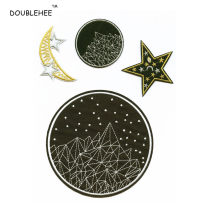 Cloth stickers Milky white off white light grey DOUBLEHEE scenery One hundred and twenty-two