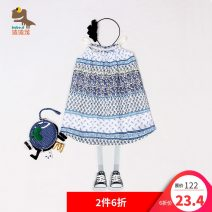 Dress female Popolon 80cm,90cm,100cm Cotton 100% summer ethnic style Skirt / vest Broken flowers cotton other Class A 12 months, 18 months, 2 years, 3 years old