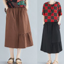 skirt Summer 2021 Average size [recommended 100-160 kg] Army green, khaki, coffee, dark blue, black Mid length dress commute Natural waist other Solid color Type A H0512G 31% (inclusive) - 50% (inclusive) cotton pocket literature