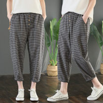 Women's large Summer 2020 Picture color M [suggested 100-130 kg], l [suggested 130-160 kg], XL [suggested 160-185 kg], 2XL [suggested 185-210 kg] trousers singleton  commute easy moderate lattice literature polyester S0503G pocket 51% (inclusive) - 70% (inclusive) Ninth pants