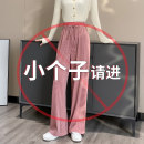 Casual pants Pink (small) for 145-155cm pink [regular] for height above 155cm XS S M L XL Spring 2021 trousers Wide leg pants High waist commute routine 18-24 years old YN6023* Ingneelady / Yinni Korean version pocket Other 100% Asymmetry