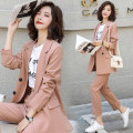 suit Autumn of 2019 Green yellow pink S M L XL Long sleeves routine Self cultivation tailored collar double-breasted routine Solid color O33M9911O 96% and above other Raman Hui / manhui Pocket button Other 100%