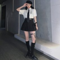 Fashion suit Spring 2021 S. M, l, average size Belt with leg ring, pleated skirt, Xuejie shirt 18-25 years old