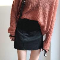 skirt Maternity Skirt routine Korean version M,L,XL,XXL Four seasons VSETAMELLE black Solid color vs787487490