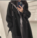 Windbreaker Autumn 2020 S. , M., L., XL., XXXs pre-sale Black. Apricot pink Long sleeves routine have more cash than can be accounted for commute double-breasted other routine Solid color Korean version Other / other 18-24 years old Pocket, button 71% (inclusive) - 80% (inclusive)