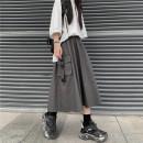 skirt Summer 2021 S,M,L,XL Apricot, dark grey 18-24 years old