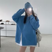 Sweater / sweater Autumn 2020 Gray, blue, black S. M, l, XL, XXXs pre-sale Long sleeves routine Socket singleton  routine Crew neck easy commute routine Solid color 18-24 years old 96% and above Other / other Korean version