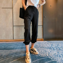 Casual pants Black, gray S,M,L,XL Spring 2021 trousers Haren pants Natural waist Versatile routine 25-29 years old JD68238 spread other pocket