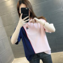 T-shirt White pink Average size Summer 2020 Short sleeve Polo collar easy Regular routine commute other 96% and above 18-24 years old Korean version originality Color matching Chevensie Printed stitching button Other 100% Pure e-commerce (online only)