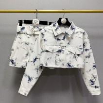 Fashion suit Autumn 2020 XS,S,M,L 6621 skirt, 6620 coat 18-25 years old WHLP
