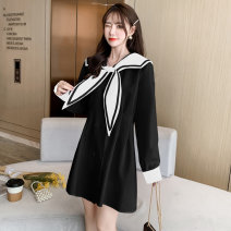 Women's large Spring 2021 White black M L XL XXL XXXL XXXXL singleton  commute Self cultivation moderate Socket Long sleeves Solid color Korean version V-neck Medium length YDE116 One butterfly 25-29 years old 31% (inclusive) - 50% (inclusive) Medium length Other 100% Pure e-commerce (online only)