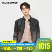 leather clothing Jack Jones Fashion City E03 black 165/88A/XS 170/92A/S 175/96A/M 180/100A/L 185/104A/XL 190/108A/XXL routine Leather clothes stand collar Straight cylinder zipper spring leisure time youth Sheepskin tide 220110515A Cloth hem Zipper bag Multiple pockets other Spring 2020
