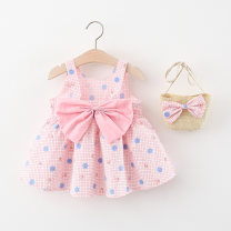 Dress female Other / other Cotton 95% polyester 5% summer princess Skirt / vest lattice cotton Princess Dress Q2104276 Class A 12 months, 6 months, 9 months, 18 months, 2 years, 3 years, 4 years Chinese Mainland Pink, yellow 66cm,73cm,80cm,85cm,90cm,95cm,100cm