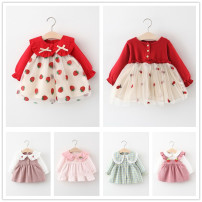 Dress Pink, red, black, yellow, blue, green, khaki, light green, red, small, light pink, silver pink, medium pink, bright pink, general yellow, dazzling pink, pink charm, Star Pink, pearl yellow female Other / other 66cm,73cm,80cm,85cm,90cm,95cm,100cm winter princess Long sleeves cotton LYQ2103180