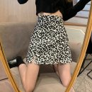 skirt Summer 2021 S M L XL black Short skirt commute High waist A-line skirt Leopard Print Type A 18-24 years old D419F 51% (inclusive) - 70% (inclusive) Dizilu polyester fiber printing Korean version Polyester 65% cotton 35% Pure e-commerce (online only)