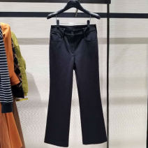 Casual pants black 1 / XS, 2 / s, 3 / m, 4 / L, 5 / XL, 6 / XXL Spring 2021 Ninth pants Flared trousers High waist commute routine 35-39 years old 91% (inclusive) - 95% (inclusive) 1100288-330511-001 Girdard / brother-in-law nylon Simplicity pocket nylon
