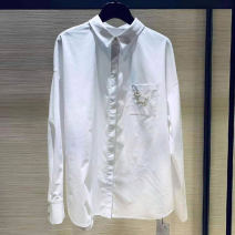 shirt white 2 / s, 3 / m, 4 / L, 5 / XL Autumn 2021 cotton 51% (inclusive) - 70% (inclusive) Long sleeves commute Regular Polo collar Single row multi button shirt sleeve Solid color 35-39 years old Straight cylinder Girdard / brother-in-law Korean version 1300545-1030661-001 cotton