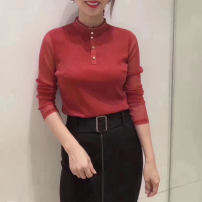 shirt Red, black 2 = s, 3 = m, 4 = L, 5 = XL Summer 2021 nylon 96% and above Long sleeves Sweet stand collar Socket routine Solid color 35-39 years old Self cultivation Girdard / brother-in-law 1300439-139925-001