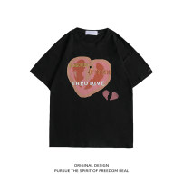 T-shirt Youth fashion Pink White Black routine M L XL 2XL Rosnay  Long sleeves Crew neck easy Other leisure summer LN20A-CJ6809 Cotton 95% polyester 5% youth routine tide Summer 2021 other other cotton No iron treatment Pure e-commerce (online only) 90% (inclusive) - 95% (inclusive)