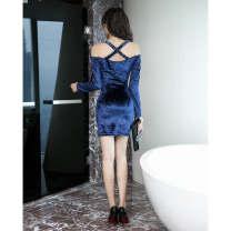 Dress Autumn of 2018 S,M,L,XL,XXL Short skirt singleton  High waist Solid color Socket One pace skirt