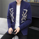 T-shirt / sweater Get up Youth fashion Grey Navy 165/S 170/M 175/L 180/XL 185/XXL thickening Cardigan Lapel Long sleeves SS013 winter Slim fit 2020 Viscose (viscose) 50.8% polyester 27.5% polyamide (nylon) 21.7% leisure time tide teenagers routine other Spring 2020 Coarse wool (8, 6)