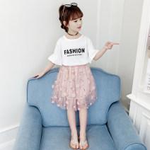 skirt White pink black Vibanbar / vibanbar female Other 100% summer skirt Korean version Solid color Cake skirt other Flower skirt Class B Summer 2021