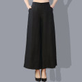 Casual pants black L,XL,2XL,3XL Spring 2021 trousers Wide leg pants High waist commute routine 40-49 years old 96% and above silk Simplicity pocket silk Asymmetry