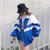 short coat Summer of 2018 MLXL Blue purple black red PQR / pecher 516-1 Polyester 100%