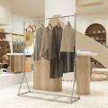 Clothing display rack clothing stainless steel Official standard 150x40x160cm