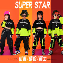 suit Guoguo deer / fruit deer 110cm 120cm 130cm 140cm 150cm 160cm 170cm male spring and autumn Hip hop Long sleeve + pants 2 pieces routine There are models in the real shooting Socket nothing children Expression of love GGL-200901L-01 Class B Cotton 91% polyurethane elastic fiber (spandex) 9%