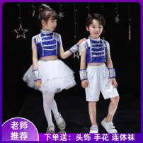 Children's performance clothes Blue girl suit, blue boy suit, men's, women's neutral Other / other Class B other Polyester 100% other 7, 8, 14, 3, 6, 13, 11, 5, 4, 10, 9, 12 other