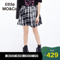 skirt Black and white check Little MO&CO. female spring and autumn skirt Europe and America lattice Irregular Class B Spring 2021