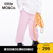 trousers Little MO&CO. male 110/53 120/56 130/59 140/60 150/63 160/66 Pink black linen green spring and autumn trousers Europe and America There are models in the real shooting Casual pants Leather belt middle-waisted Don't open the crotch KBA1PATT02 Class B Spring 2021 Chinese Mainland