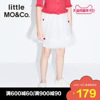 skirt 110/50 110/53 120/53 130/56 140/58 150/61 155/64 This is white and black Little MO&CO. female Polyamide fiber (nylon) 100% summer skirt Europe and America A-line skirt KAI2SKT005 Class B Summer 2021