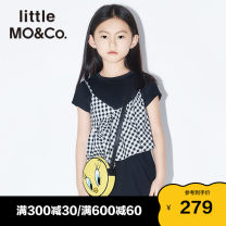 Dress female Little MO&CO. 110/52 110/56 120/56 130/60 140/64 150/68 155/72 Cotton 100% summer Europe and America Short sleeve lattice Pure cotton (100% cotton content) Class B Summer 2020 Chinese Mainland Guangdong Province Guangzhou City