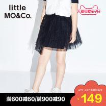skirt 110/50 110/53 120/53 130/56 140/58 150/61 155/64 This is white and black Little MO&CO. female Polyester 100% summer skirt Europe and America Irregular KAI2SKT007 Class B Summer of 2019