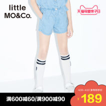 trousers Little MO&CO. female 110/50 110/53 120/53 130/56 140/58 150/61 155/64 Denim blue summer shorts Europe and America There are models in the real shooting Casual pants Leather belt middle-waisted Pure cotton (100% content) Don't open the crotch Cotton 100% KBO2SOT006 Class B Summer 2020