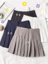skirt Summer of 2019 S,M,L,XL Short skirt Sweet High waist Pleated skirt Solid color Type A 18-24 years old 30% and below other Pleating college